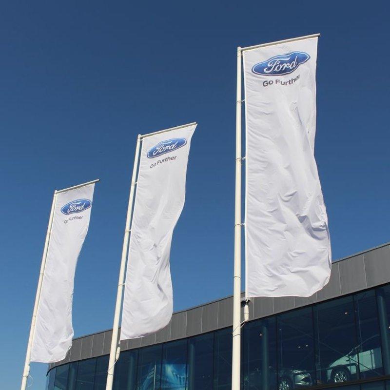 Reklamflaggor, stående flagga full colour