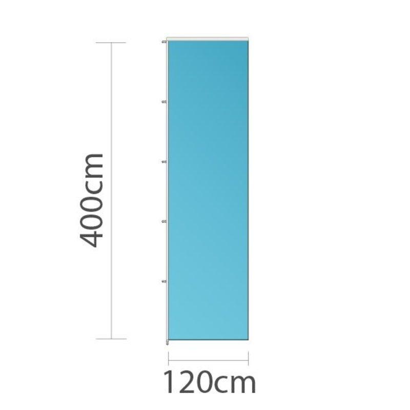Drapeau sur mesure, 120x400cm