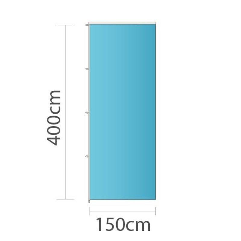 Drapeau sur mesure, 150x400cm