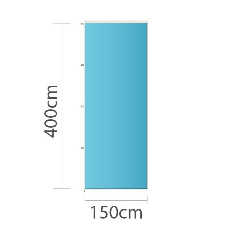 Fahne, 150x400cm