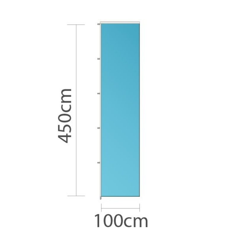 Bandera vertical publicitaria, 100x450cm