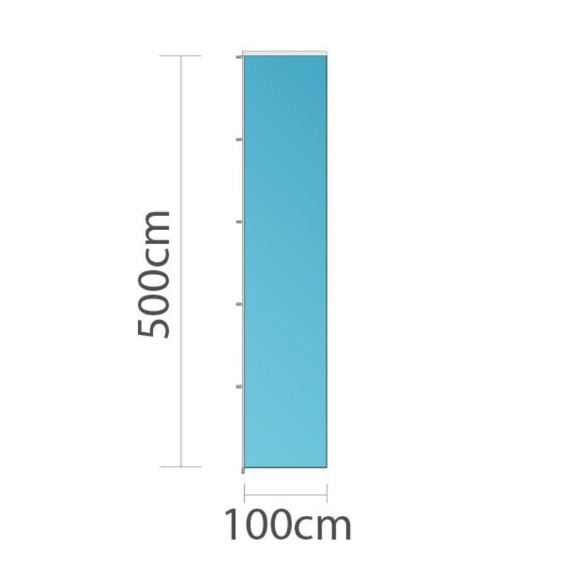Bandera vertical publicitaria, 100x500cm