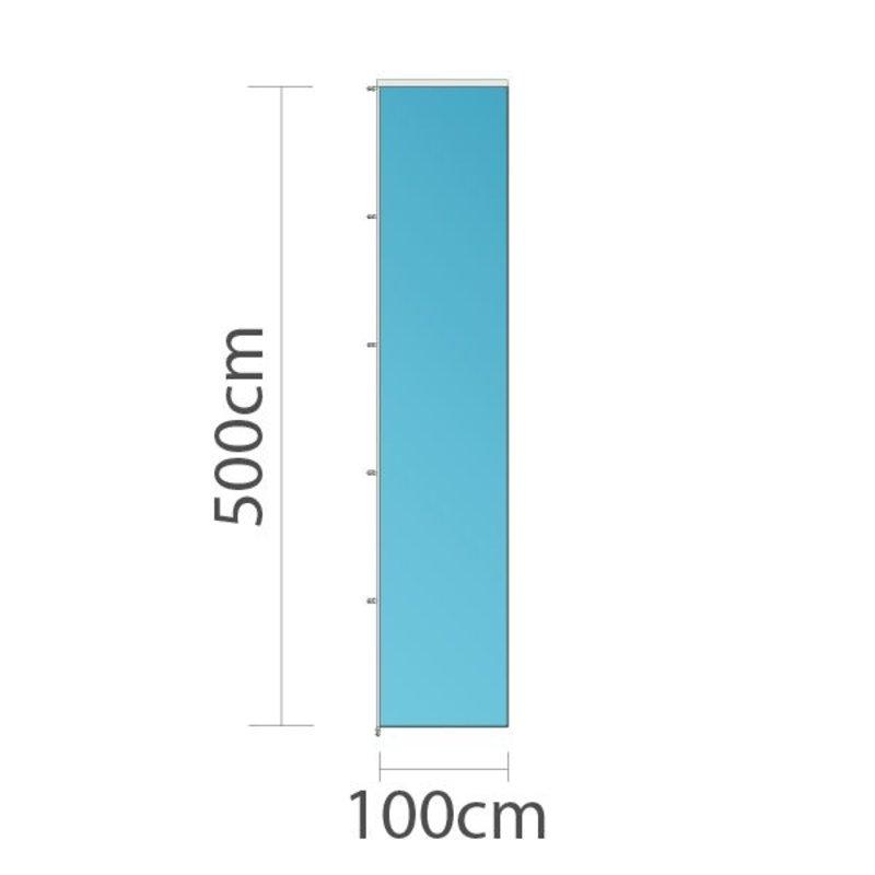 Reklamflagga, 100x500cm