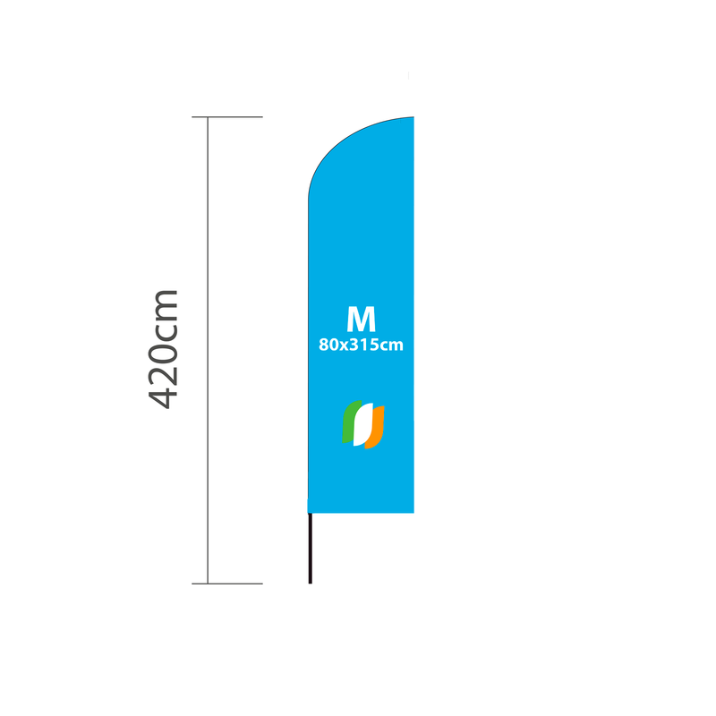 Beachflag Event M - 80x315cm (levertijd 4-6 werkdagen)