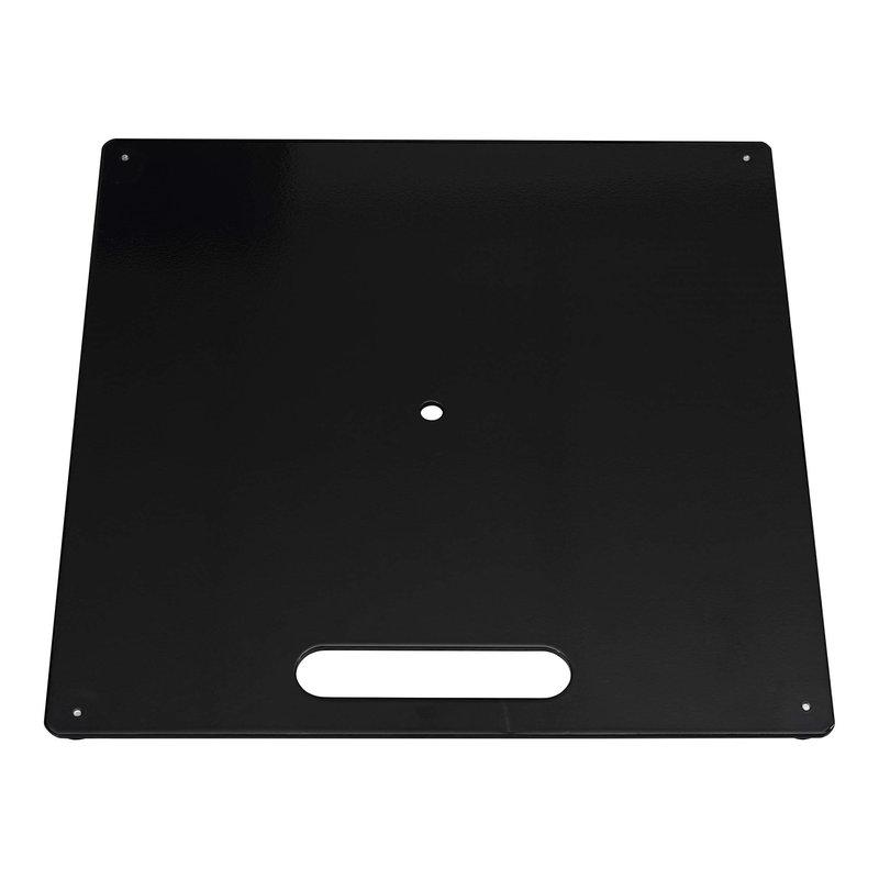 Ground plate, black