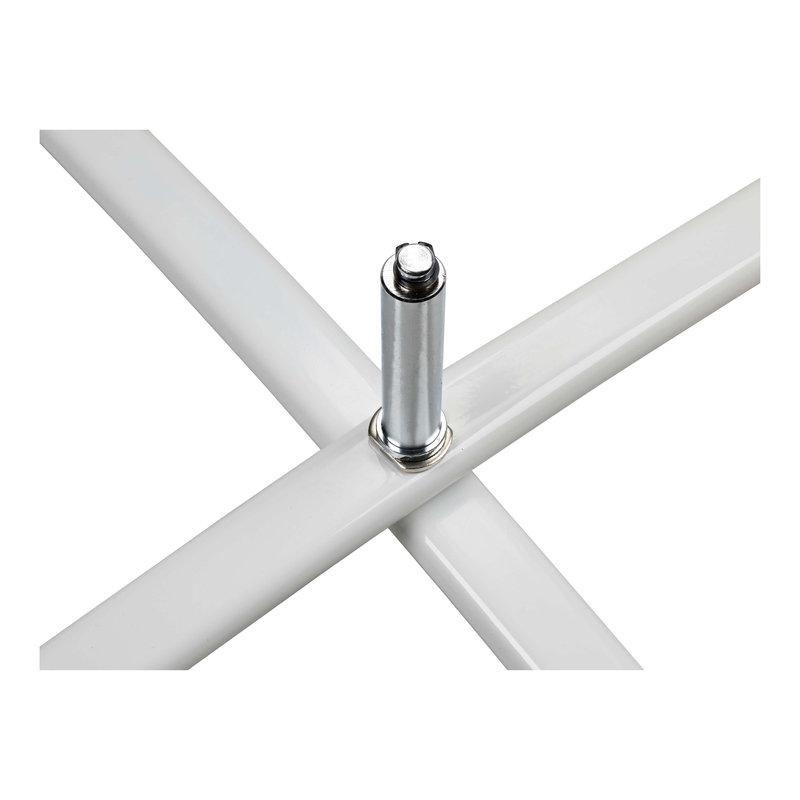 Base de pé cruzado padrão, branco