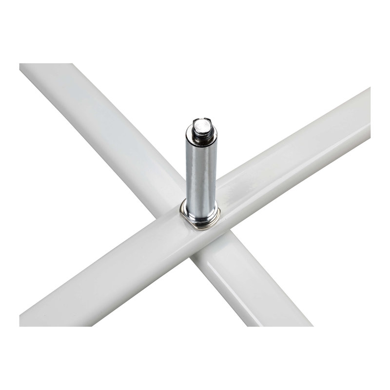Standard krydsfod, hvid