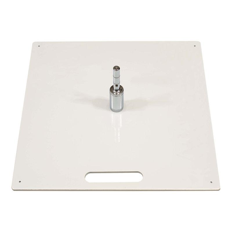 Ground plate, heavy, white