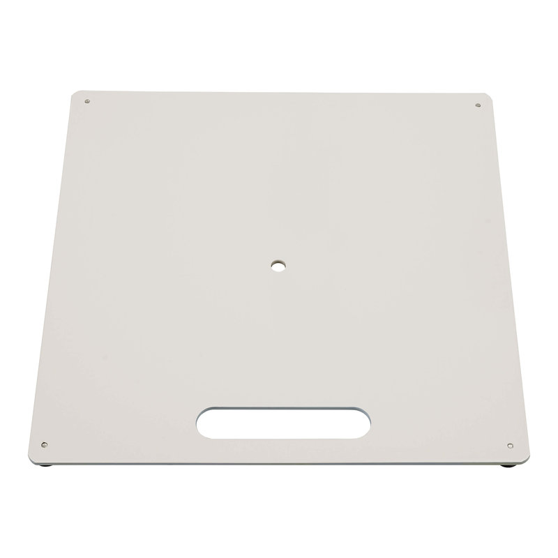 Ground plate, white, with bearing