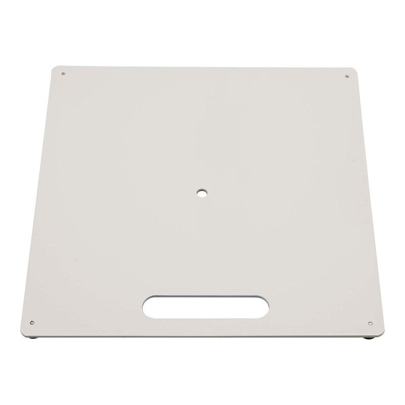 Markplatta, vit, med lager