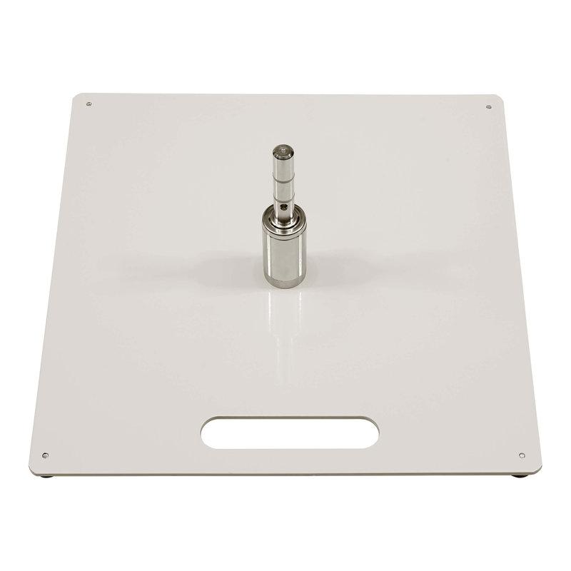 Placa base, blanco, con sistema de rodamiento