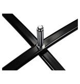 Pied en croix standard, noir