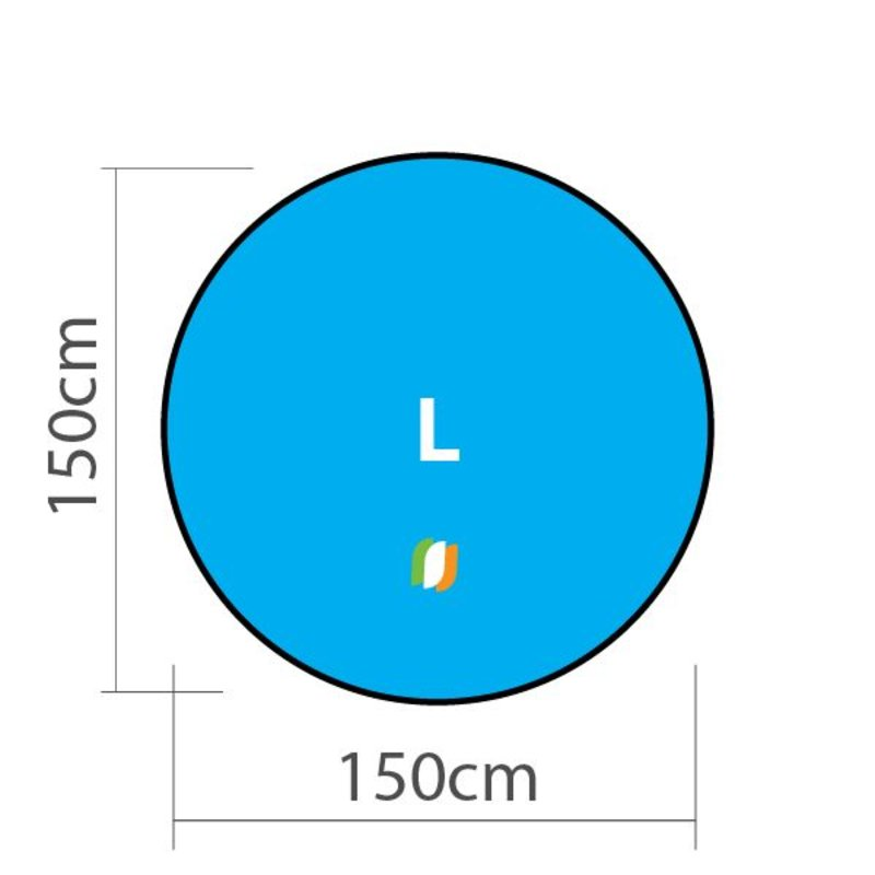 Beach banner Round - L 150x150cm