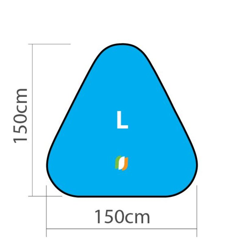 Beachbanner Triangle - L 150x150cm