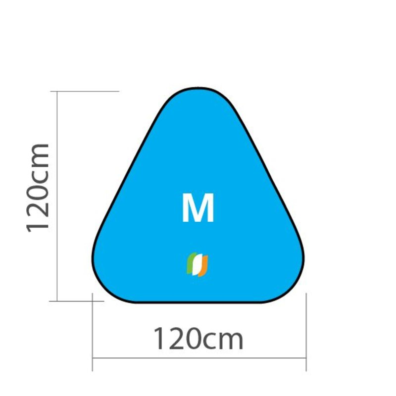 Beach banner Triangle - M 120x120cm