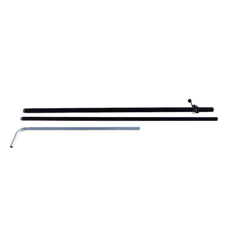 Beach flag Block pole XS, black