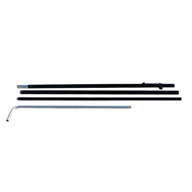 Beach flag Block pole S, black