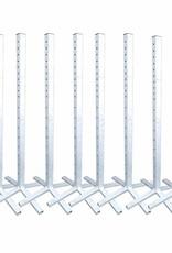 Voordeelset van 8 staanders - (verzinkt) ijzer