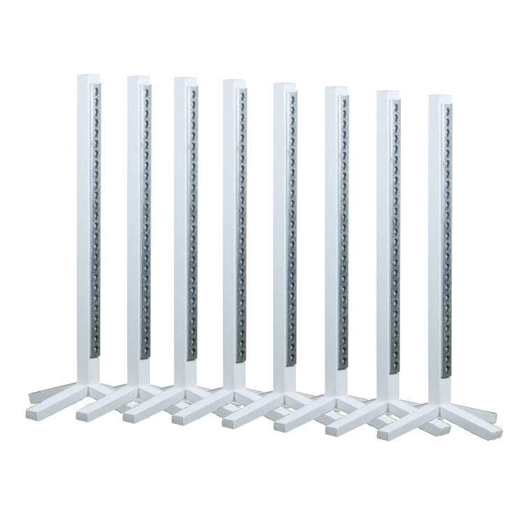 Voordeelset van 8 staanders - aluminium wit