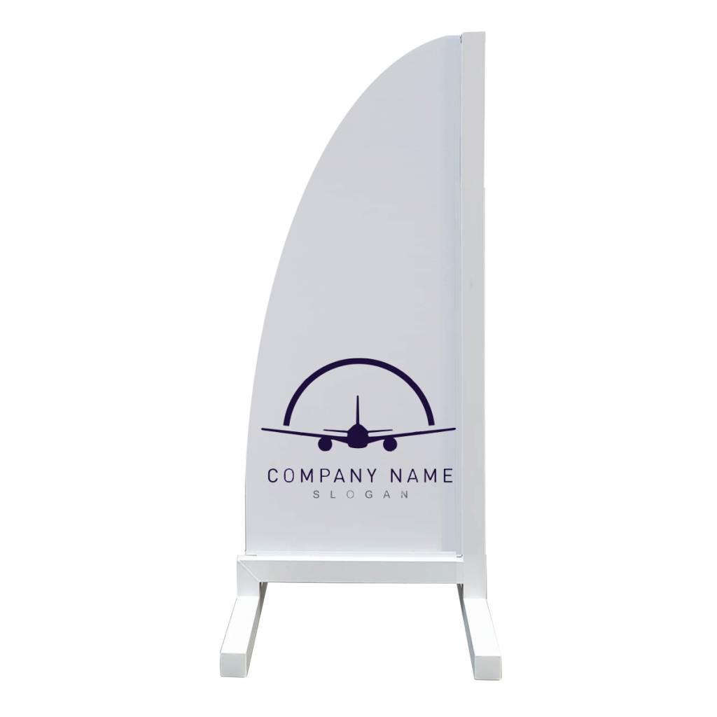 Aluminium reclamevleugel - Model Beachflag