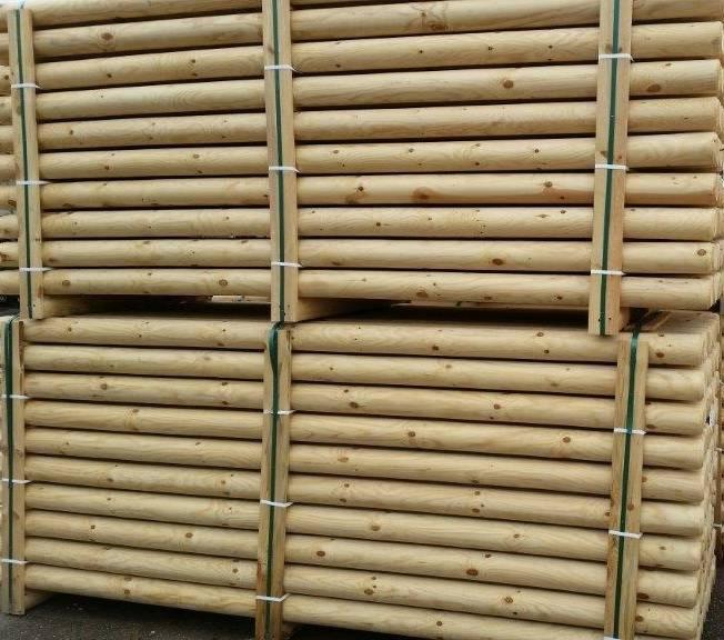 Kernhouten hindernisbalk ongeverfd