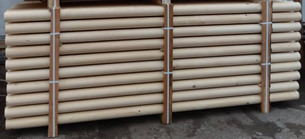 Kruishout hindernisbalk  3 meter ongeverfd
