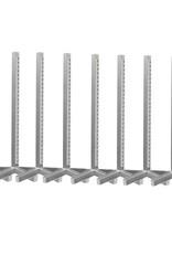 Voordeelset van 8 staanders - aluminium kaal