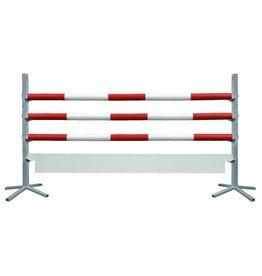 Basic Hindernis met plank - rood/wit
