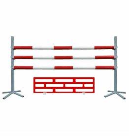 Basic Hindernis met onderzetdeel - rood/wit