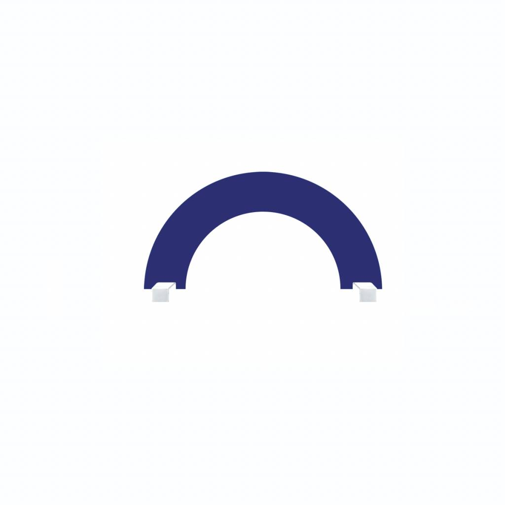 Onderzetdeel boog. 100 x 50 cm