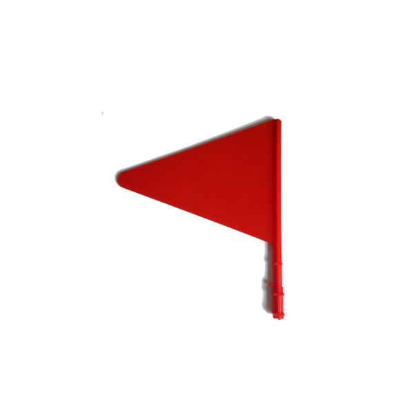 Hindernisvlaggetjes wit + rood + houders