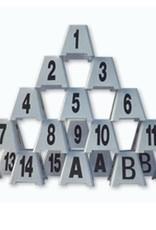 Nummers voor het aangeven van de parcoursvolgorde