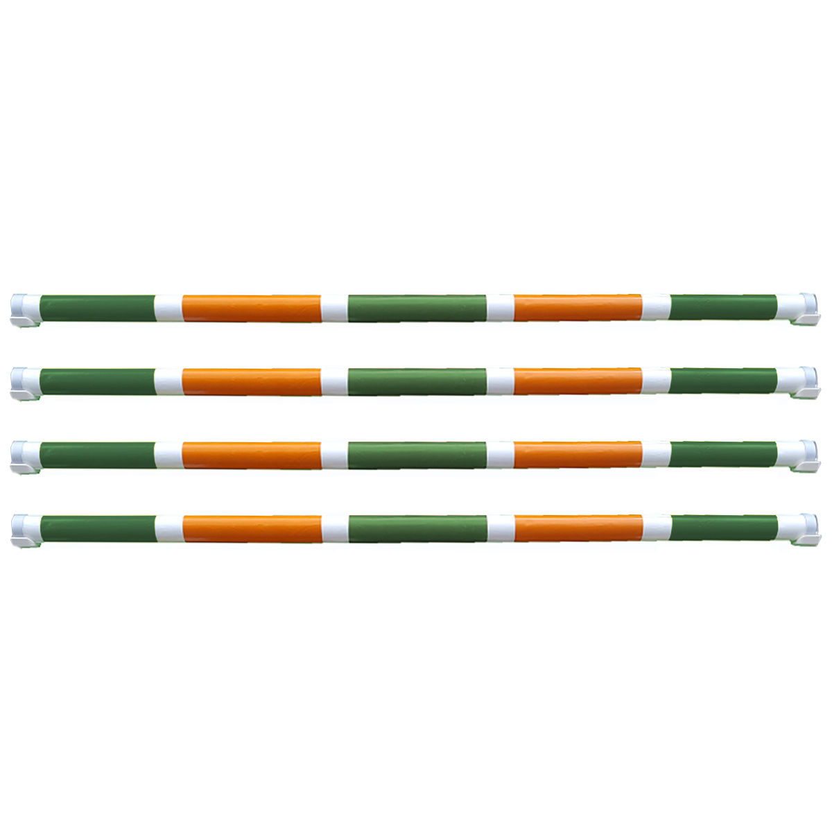 Hindernisbalk *Luxury serie* groen, wit, oranje