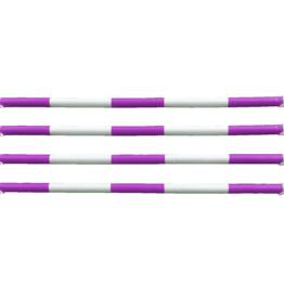 Hindernisbalk *Budget serie* - paars & wit