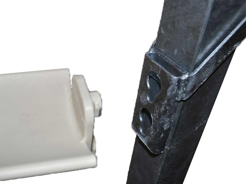 Overgangslepel voor staander met 6x6cm verticale koker