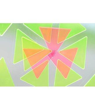 San Kaku Mado Raam Mozaïek oranje/roze
