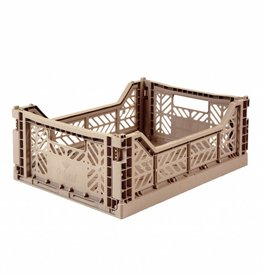 Eef Lillemor Folding Crate Midi Taupe