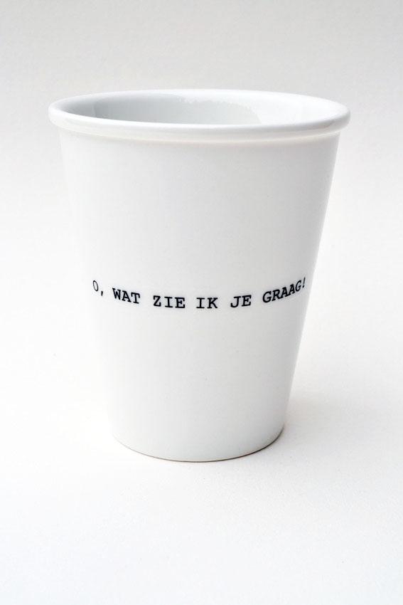 koffie beker o wat zie ik je graag Helen b