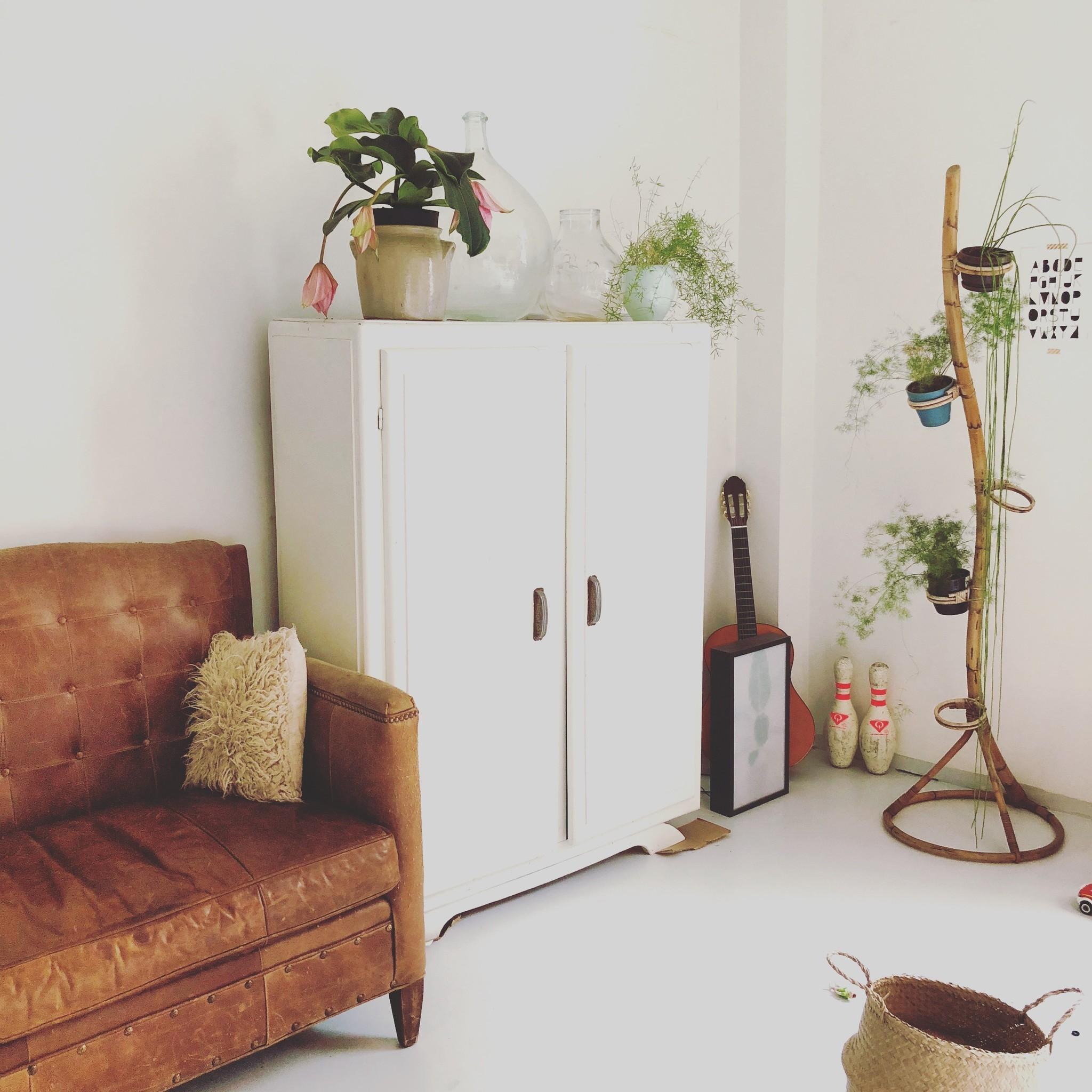 Het combineren van van vintage in huis
