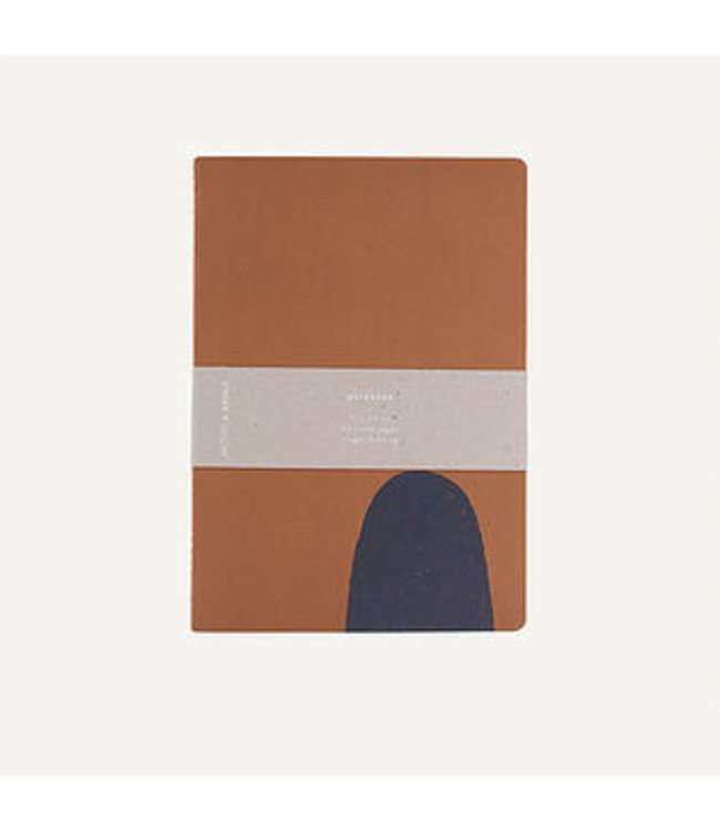 Notebook L | handdrawn shape | caramel fudge