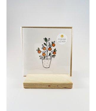 Mijksje wenskaart - Sinaasappelboom