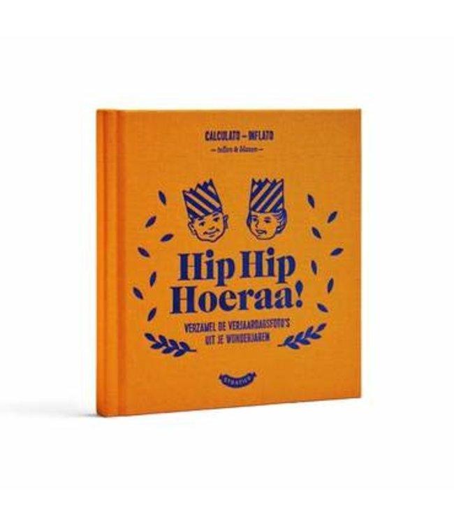 STRATIER Verjaardagenboek - Hip Hip Hoera
