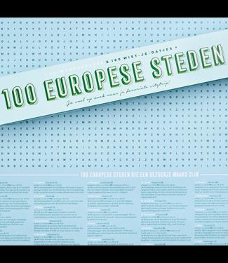 STRATIER XL Poster - 100 Europese steden