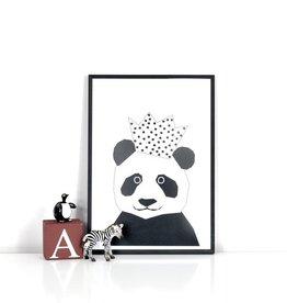 Party Panda print Ingrid Petrie A4