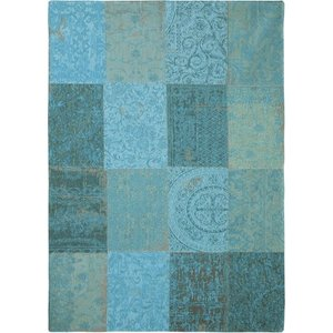 Vloerkleed patchwork azur