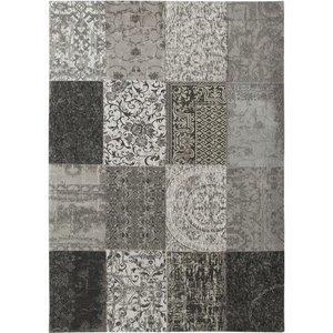 Vloerkleed patchwork zwart wit