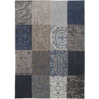 Vloerkleed patchwork denim