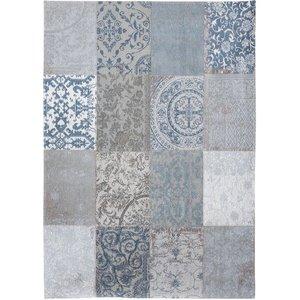 Vloerkleed patchwork brugesblauw