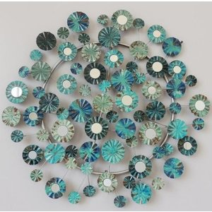 Muurdecoratie metal circles