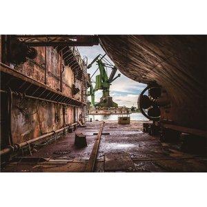 Foto op glas industriële scheepswerf